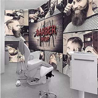 Afashiony Custom Wall Paper 3D Modern Fashion Beauty Salon Hair Salon Photo Mural Barber Shop Decoration 3D Wall Mural wallpaper-400Cmx280Cm