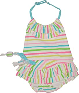 Baby//Toddler Girl Swimsuit Peplum Dot Bow Ruffle Swimsuit Bathing Beach Sunsuit Outfits Tronet Baby Swimsuit