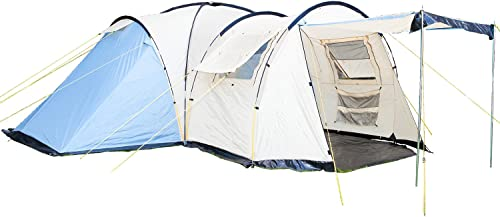 SKANDIKA Tornto 8-Tente familiale d&ocircme-8 personnes-590x590 cm Mixte, Bleu Beige, 8 Persons