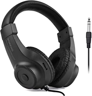 Headset, GoolRC Wired Stereo Monitor Headphones Over-ear Headset with 50mm Driver 6.5mm Plug for Recording Monitoring Musi...