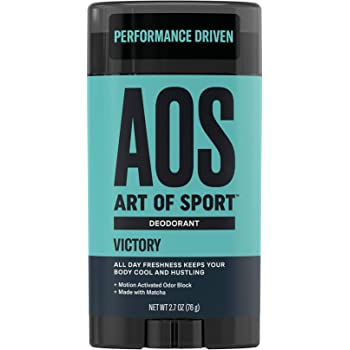 Art of Sport Men's Deodorant Clear Stick, Victory Scent, Aluminum Free, Made with Matcha, 2.7oz