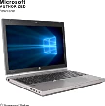 HP EliteBook 8560P 15.6 Inch Notebook, Intel Core I5 2520M Upto 3.2GHz , 8G DDR3, 512G SSD, DVDRW, WiFi, VGA, DP, USB 3.0, Win10 64 Bit-Multi-Language Supports Englilsh/Spanish/French(CI5)(Renewed)