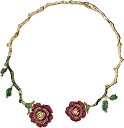 Rose Hinged Collar Necklace