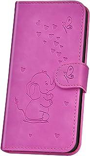 JAWSEU Fodral flip kompatibel med Huawei P30 Pro, präglad elefant mönster design PU-läder plånbok silikon stötfångare skyd...