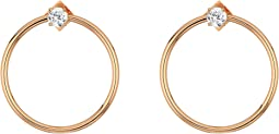 Vince Camuto Medium Frontal Hoop w/ CZ Earrings