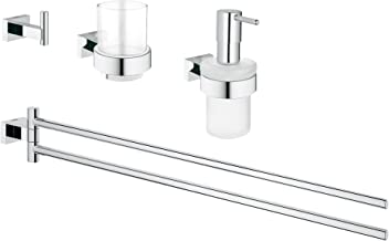 Grohe 40847001 Essentials Cube Acc.Set Master 4-in1, Starlight Chrome