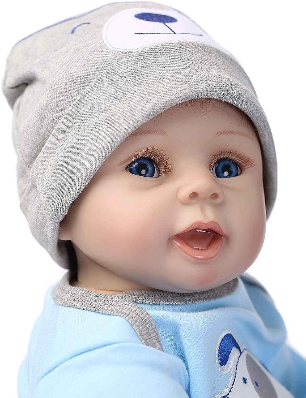 Ziyiui 22  Reborn Doll Handmade Lifelike Silicone Vinyl DOll Toy Real Baby Doll
