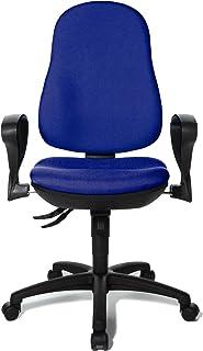 Topstar 8550SG26 - Silla de Escritorio de Oficina, Color Dorado y Azul