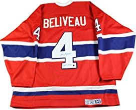 Jean Beliveau Signed Montreal Canadiens Throwback Replica Jersey w/