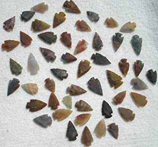 Set Of 50 Indian Arrowheads Agate New Replica 1/2