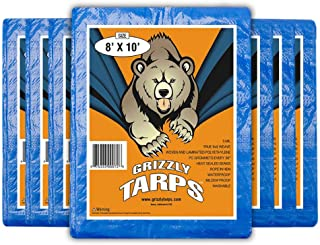 Best B-Air Grizzly 8X10 ft Blue Heavy Duty Multipurpose Waterproof Tarp, 4 Pack Review