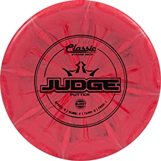 Dynamic Discs Classic Blend Burst Judge Disc Golf Putter | Throwing Frisbee Golf Putter | Stable Disc Golf Flight | Beaded Disc Golf Putter | Stamp Color Will Vary