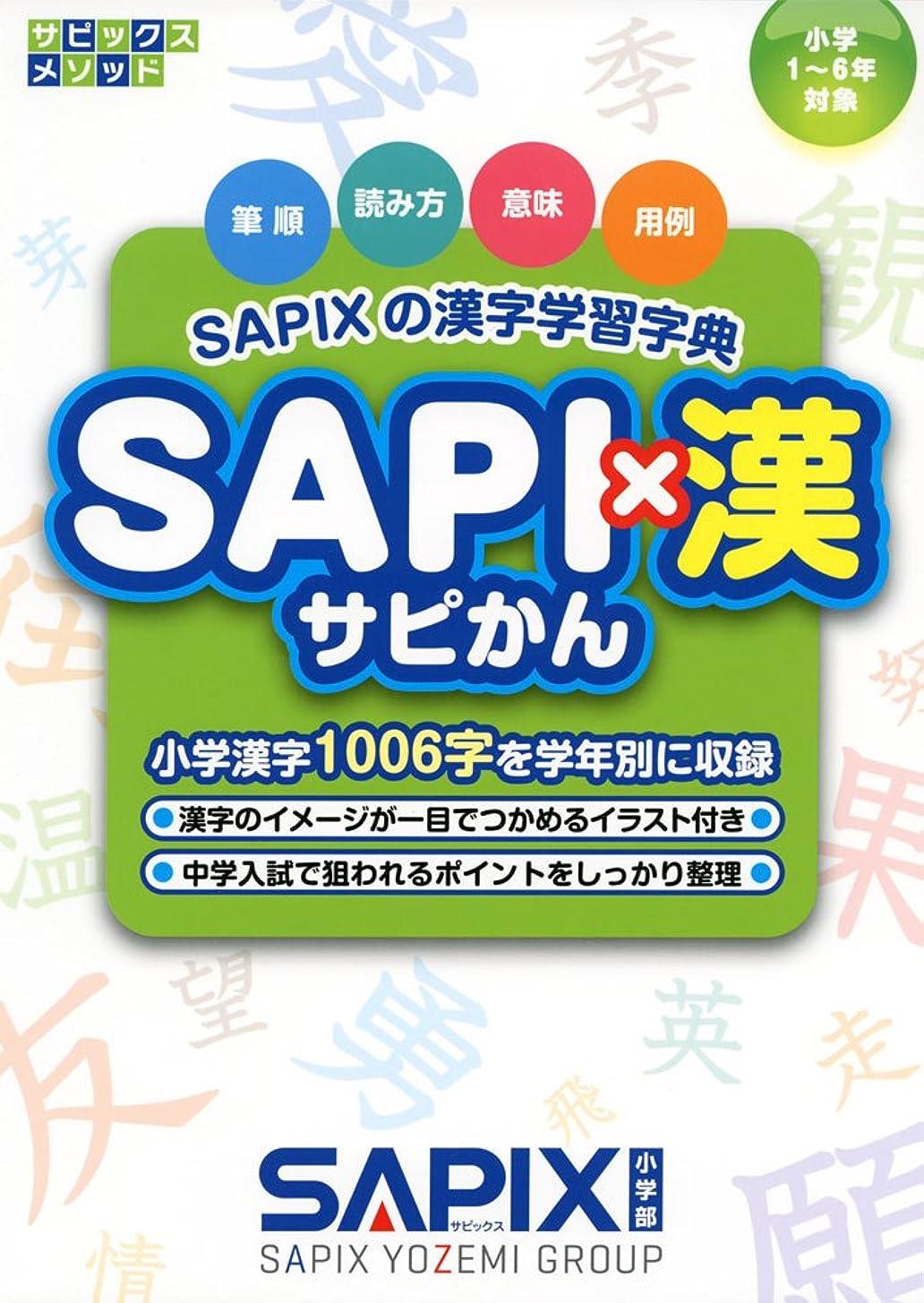 夕方マーキングハックSAPIXの漢字学習字典 SAPI×漢 (サピックスメソッド)
