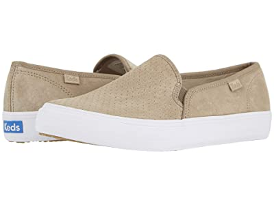 Keds Double Decker Perf Suede (Taupe) Women