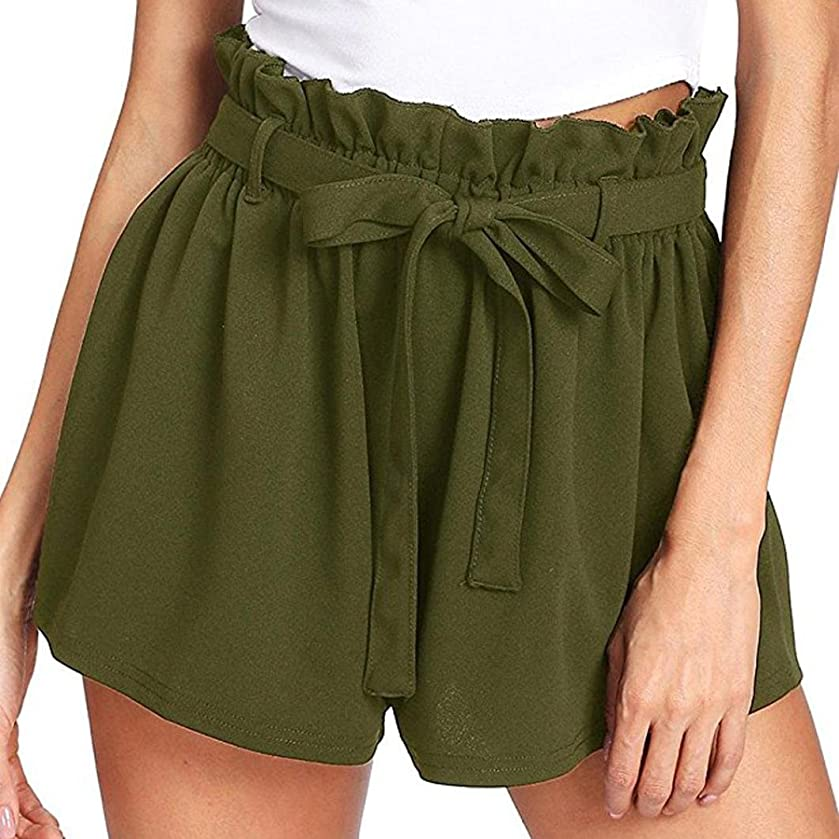 Summer Shorts Pants for Women Casual Elastic Waist Hot Pants Jersey Walking Shorts