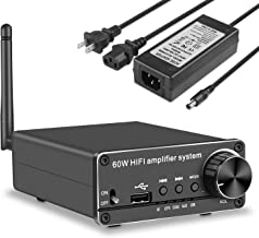 Bluetooth Audio Amplifier Receiver 60W , HIFI Stereo Audio Amplifier for Home Theater, 2 Channel Speaker Audio Amplifier with AUX/USB/Optical/Coaxial to RCA