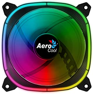 Aerocool ASTRO, Ventilateur PC 12 cm, 18 LED RGB, 6 broches