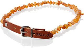 Mo + Lo Naturals Raw Baltic Amber Collar - for Dogs and Cats - Chemical-Free, 100% Authentic
