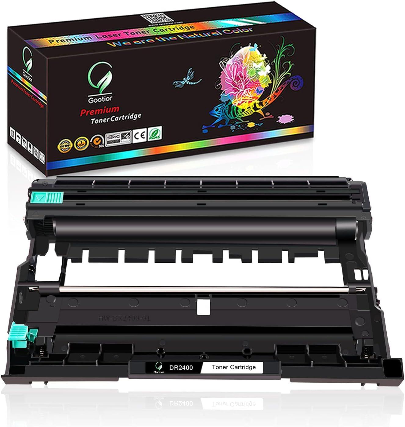 Gootior DR2400 DR-2400 Tambor Compatible para Brother TN2420 para Brother HL-L2310D HL-L2350DN HL-L2370DN HL-L2375DW DCP-L2510D DCP-L2530DW MFC-L2710DN MFC-L2730DW MFC-L2750DW, No tóner