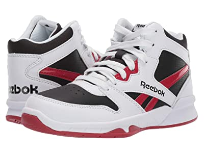 Reebok Kids BB4500 Hi 2 (Little Kid/Big Kid) (White/Black/Red) Kids Shoes