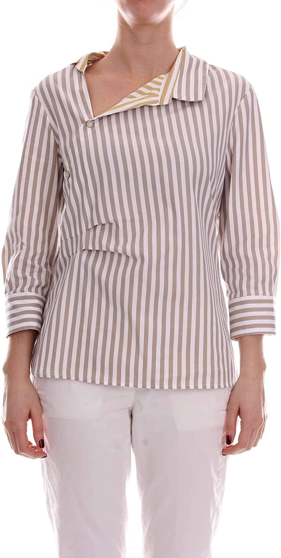 Barba Women's PE19471651WHITE White Cotton Shirt