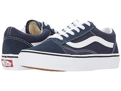 Vans Kids Old Skool (Little Kid) (India Ink/True White) Boys Shoes
