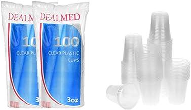 Dealmed Disposable Clear Plastic Cups, 3 oz, 200 count