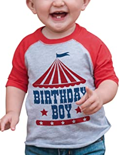 Boy's Birthday Circus Red Raglan