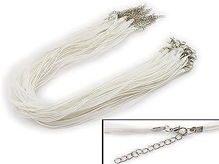 10stk Einstellbare Leder Halskette Herren-Anhänger Ketten Karabiner Schmuck Cord