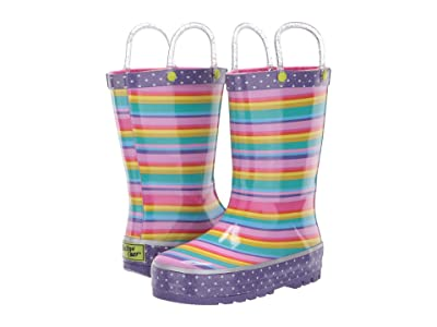 Western Chief Kids Sweet Stripe Rain Boot (Toddler/Little Kid) (Multi) Girls Shoes