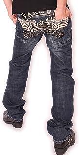 (バンソン) VANSON ウィングエンブレム 刺繍 USED加工 デニム パンツ ジーンズ SP-B-10