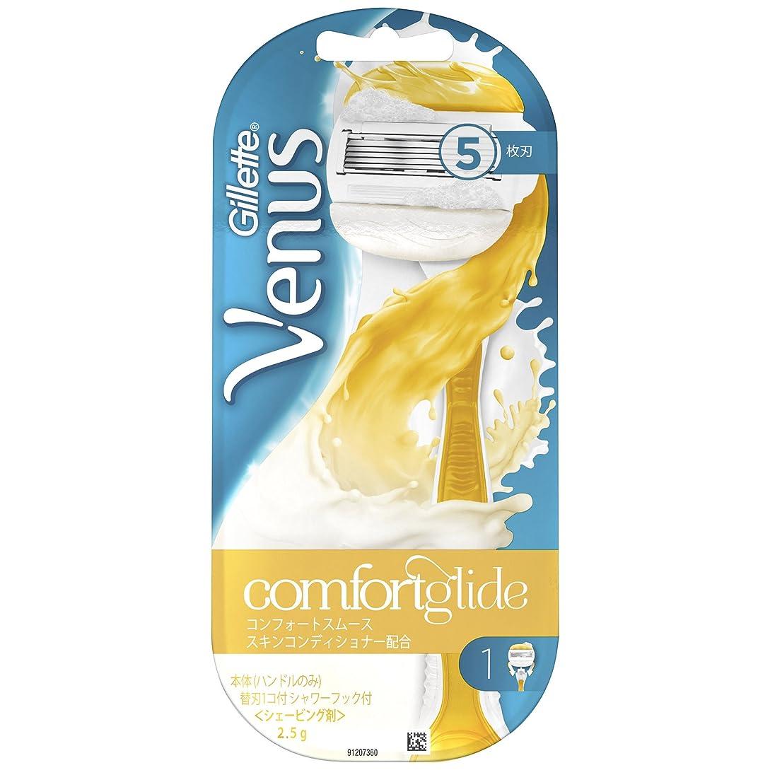 バルコニー乳製品真似るヴィーナス カミソリ ホルダー替刃1個付 コンフォートスムーススキンコンディショナー配合