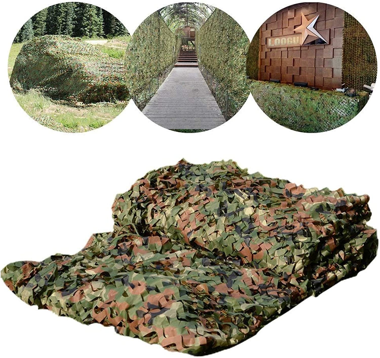 Camouflage Net Shade Net Decoration Camping Sunshade Oxford Cloth Camping Tent Suitable For Outdoor Camping Hidden Hunting Photography Shade Halloween Christmas Decoration ( Size   33M(9.89.8ft) )
