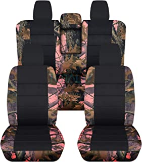 Totally Covers compatible with 2018-2020 Jeep Wrangler JL Camo & Black Seat Covers: Pink Tree Camouflage - Full Set: Front...