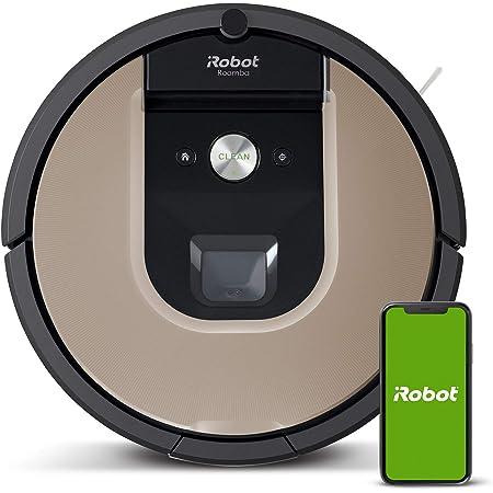 iRobot Roomba 966- Robot aspirador con Wi-Fi, dos cepillos de goma multisuperficie y antienredos, óptimo mascotas, Recarga y reanuda, Sugerencias personalizadas, Compatible asistentes de voz