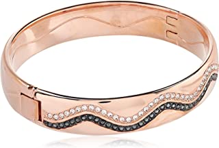 Swarovski Women Rose Gold Plated and Crystals Bangle, 2.215 inch - 5153271