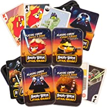 Angry Birds Star Wars Playing Cards Set -- 4 Decks in Collector Tins Featuring Luke Skywalker, Darth Vader, Han Solo and Chewbacca