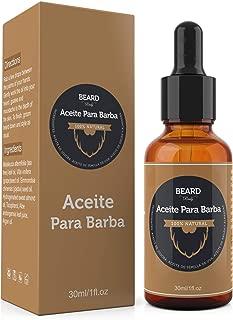 Aceite para Crecer La Barba - Crecimiento De Barba y Bigote Natural - Hidrata y Acondiciona
