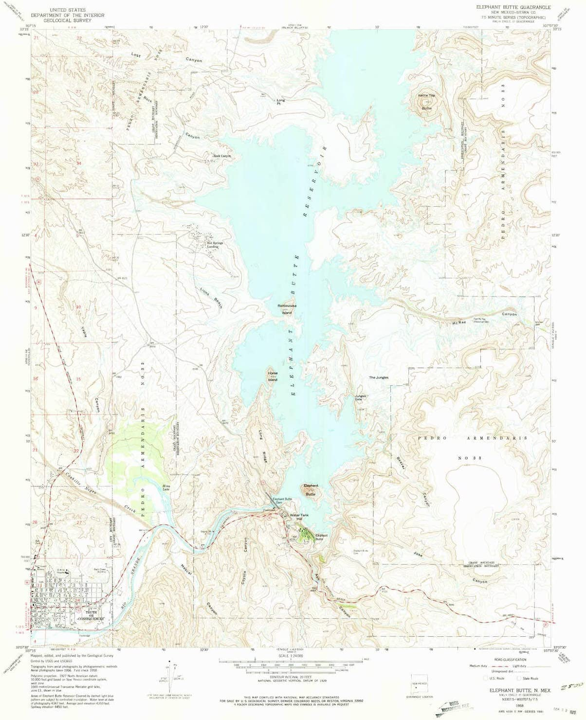 YellowMaps Chicago Mall Elephant Butte NM topo map SALENEW very popular! 7.5 Scale 1:24000 X
