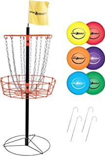 Park & Sun Sports Portable Frisbee/Disc Golf Steel Target Goal with Basket