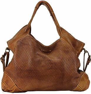 BZNA Bag Tia Cognac Italy Designer Damen Handtasche Schultertasche Tasche Leder Shopper Neu
