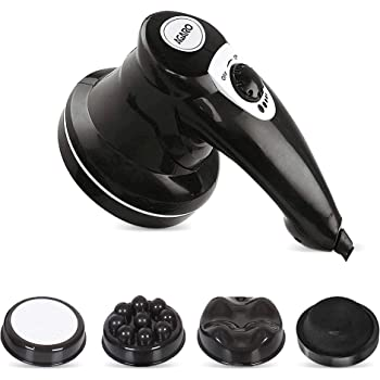 AGARO ATOM Electric Handheld Full Body Massager with 3 Massage Heads & variable speed settings for pain relief and relaxation
