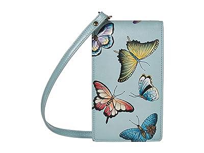 Anuschka Handbags Smartphone Crossbody 1154 (Butterfly Heaven) Handbags