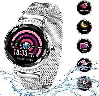 Smart Watch para Mujeres H2 Pulsera Actividad Inteligente con Pulsómetro Impermeable IP67 Podómetro Pulsera Deportiva Monitor de Ritmo Cardíaco Reloj Fitness