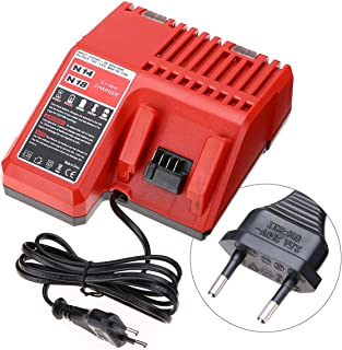 220V Lithium Li-ion Battery Charger Replacement For Milwaukee M18 18V EU Plug