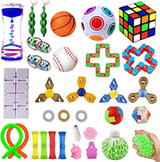 32 Pack Sensory Fidget Toys Set, Stress Relief Kits for Kids Adults, Gifts for Birthday..
