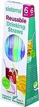 Sistema Reusable Drinking Straws 6 Pcs