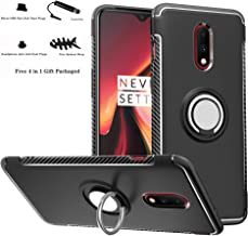 OnePlus 7 /OnePlus 6T case,Labanema Hybrid Dual Layer 360 Degree Rotation Ring Holder Kickstand Armor Slim Protective Cover for OnePlus 7 /OnePlus 6T - Black