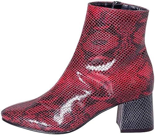 Chaussures Femme en Python Bordeaux Bordeaux Brillant avec Talon Noir Taille Nombre 37Made en  élégant lpb37 01  acheter pas cher neuf
