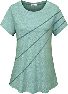 AxByCzD Womens Workout Short Sleeve Shirts Athletic Yoga Tops